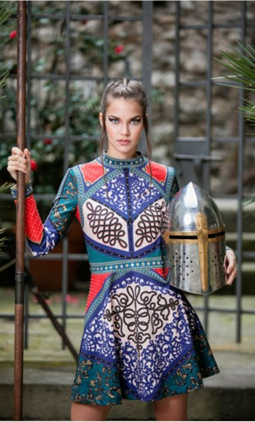 VESTIDO PRINT WARRIOR RED