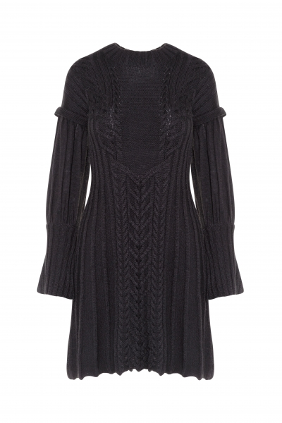 VESTIDO TRICOT OCHOS NEGRO HIGHLY PREPPY
