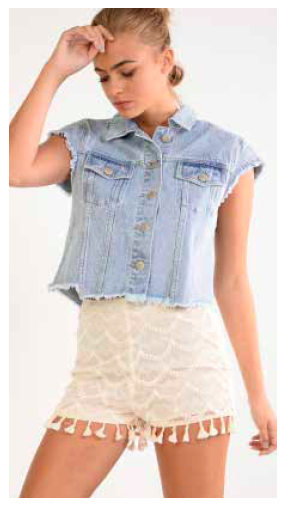 CHALECO TOP DENIM