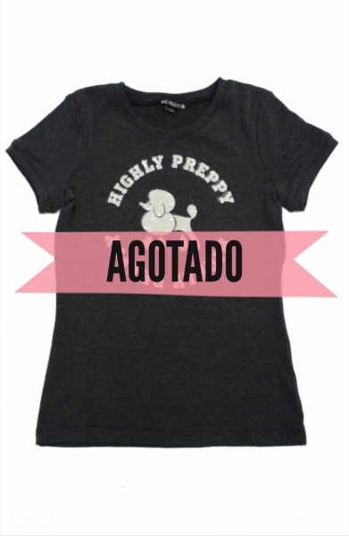 CAMISETA HIGHLY PREPPY POODLE NEGRO