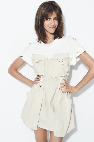 VESTIDO PUNTO COMBI BEIGE HIGHLY PREPPY